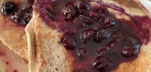 High Protein French Toast With BLUEBERRIES