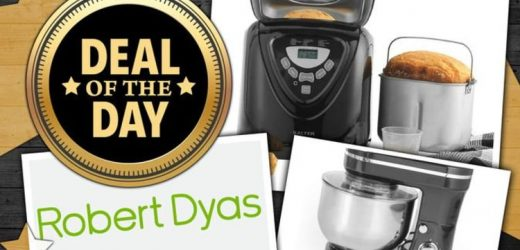 DEAL OF THE DAY: Robert Dyas slashes 50 percent off baking stand mixers and bread makers