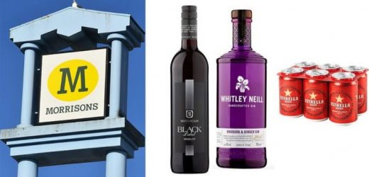 Morrisons is offering shoppers deals on wine, beer and slashing 30 percent off gin